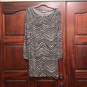 Trina Turk Zebra print T-shirt dress